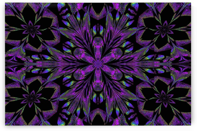 Black Purple Lotus 2 by Sherrie Larch