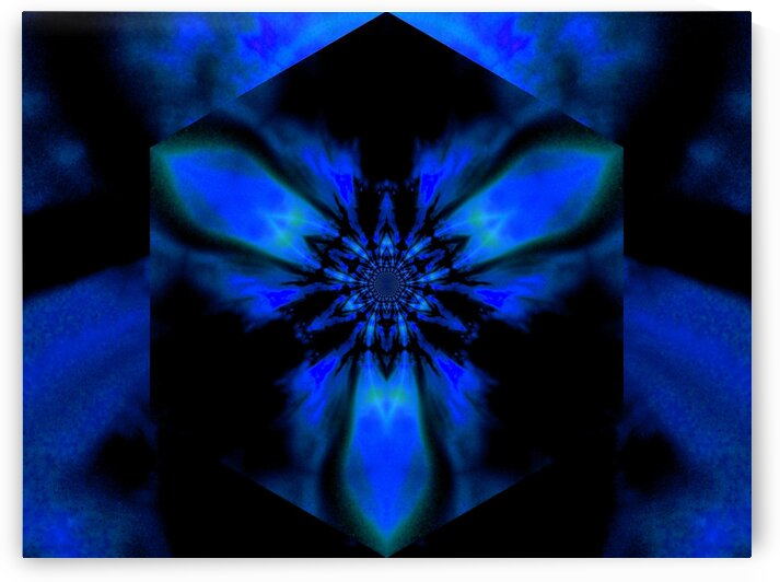 Fire Lotus Blue 1 by Sherrie Larch