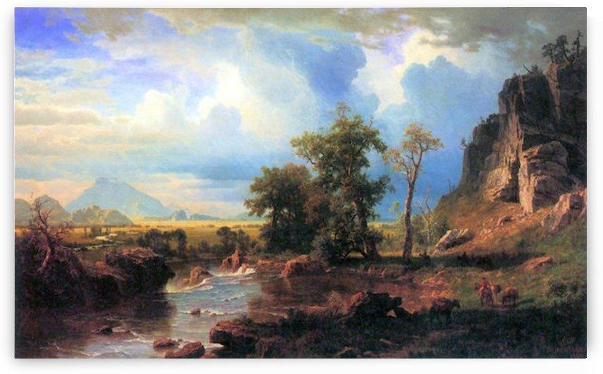 Northern fork of the Plate, Nebraska by Bierstadt by Bierstadt