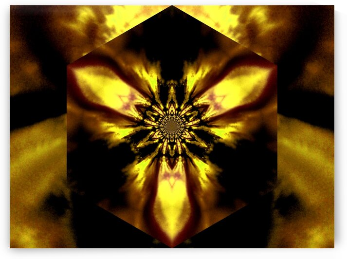 Fire Lotus Yellow 1 by Sherrie Larch