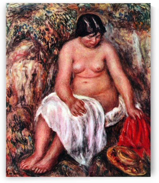 Nude  with Straw by  Renoir by Renoir