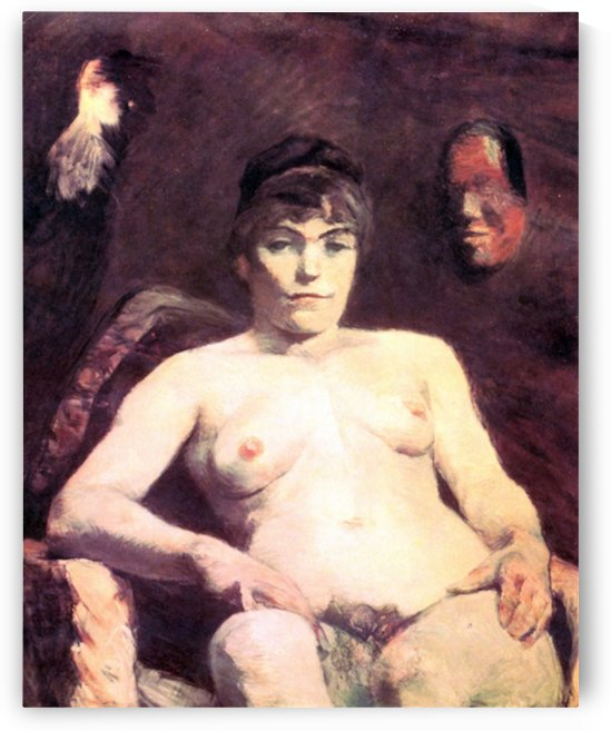 Nude by Toulouse-Lautrec by Toulouse-Lautrec