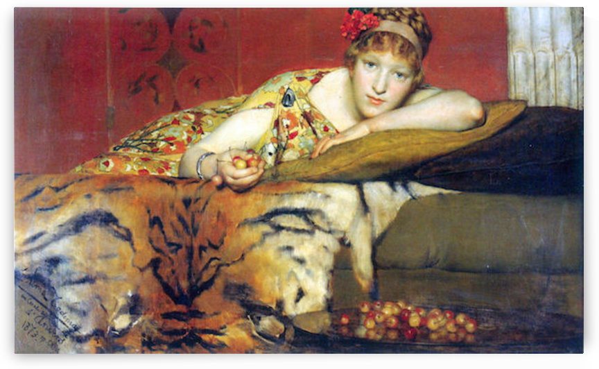 A craving for cherries by Alma-Tadema by Alma-Tadema