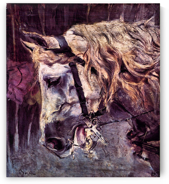 Head of a horse by Giovanni Boldini by Giovanni Boldini