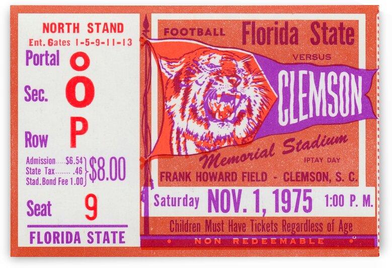 1975_College_Football_Clemsonvs.FloridaState_MemorialStadium by Row One Brand