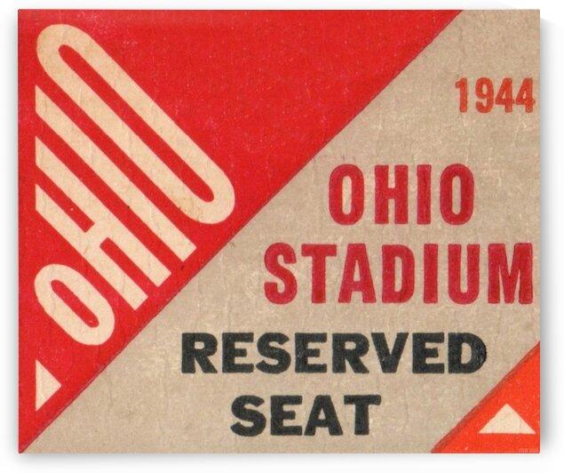 OhioStadiumReservedSeatOSUBuckeyesTicketStubArtPoster by Row One Brand