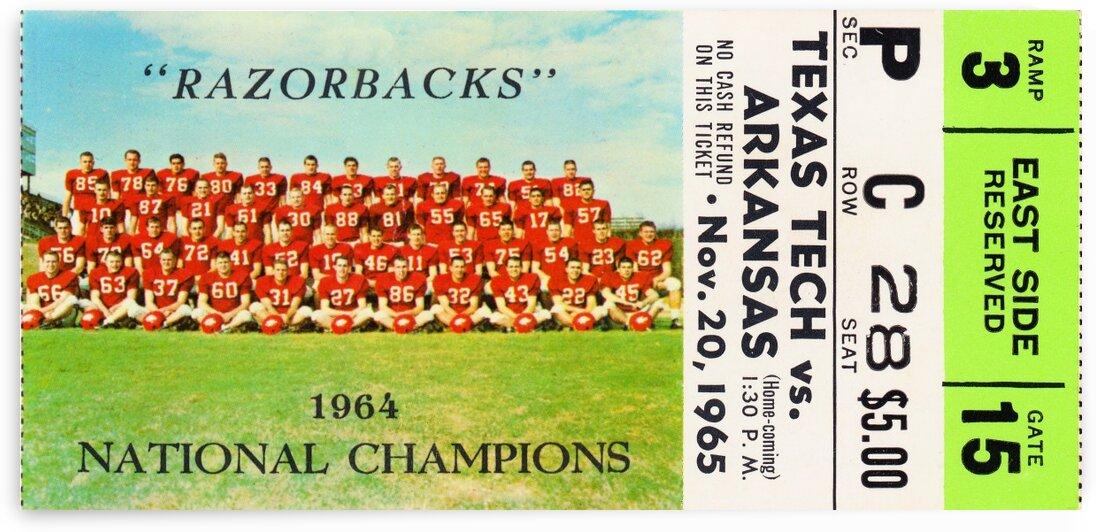 1965_College_Football_Arkansasvs.TexasTech_RazorbackStadium_NationalChampions 1  by Row One Brand