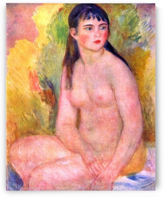 Nude female by Renoir by Renoir