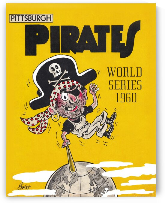 1960 vintage pittsburgh pirates world series poster 1  by Row One Brand