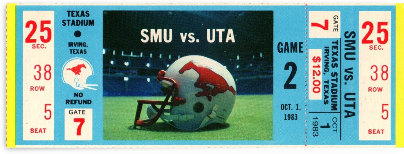 1983_College_Football_SMUvs.UTA_TexasStadium_Dallas by Row One Brand