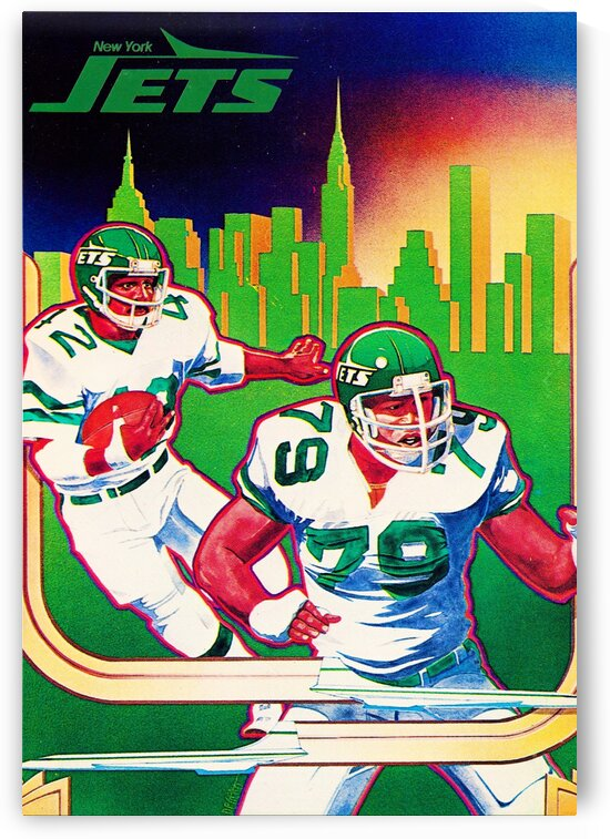 1981 New York Jets Art by Row One Brand