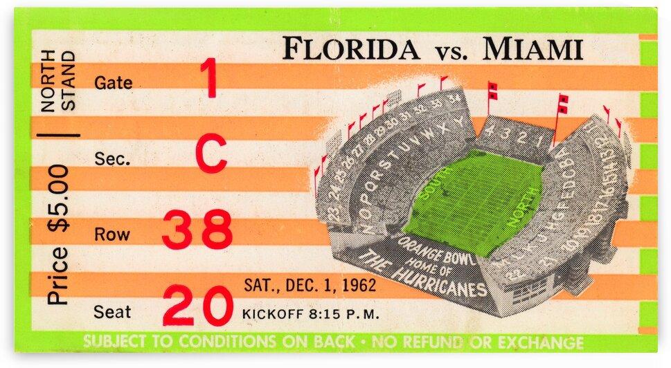 1962 Miami vs. Florida by Row One Brand