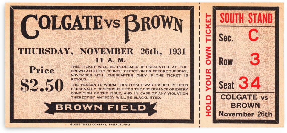 1931 Colgate vs. Brown by Row One Brand
