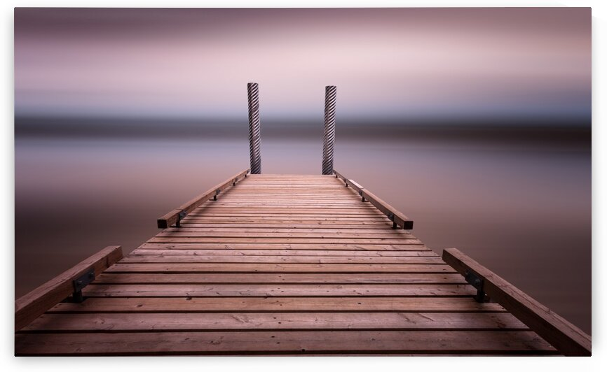 The jetty on Comox Lake by Leighton Collins