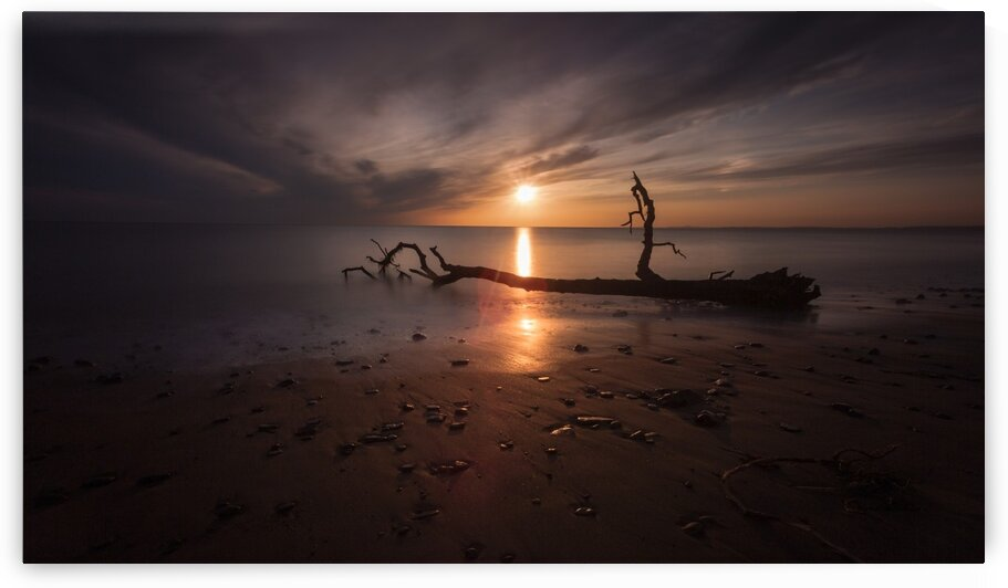 Sunset on Sker Beach by Leighton Collins