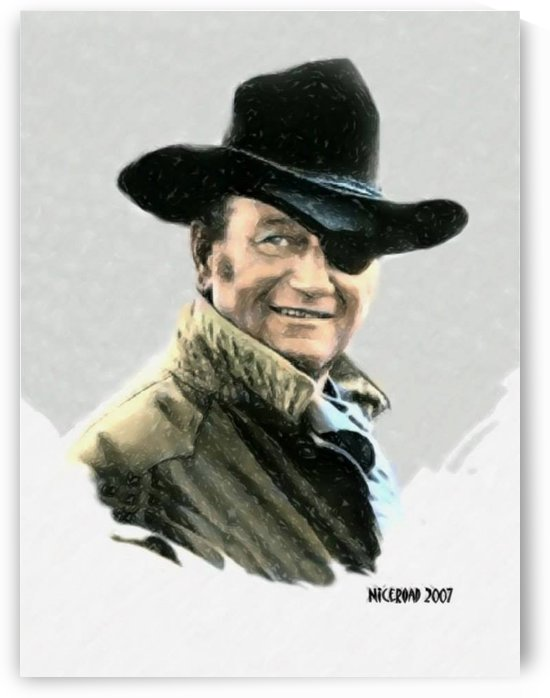 John Wayne Portrait by Niceroad