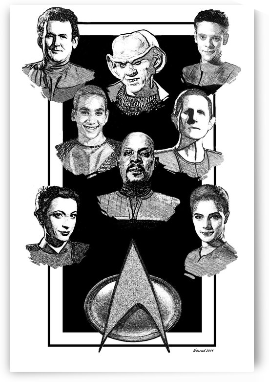 deep space nine pen and ink by Niceroad