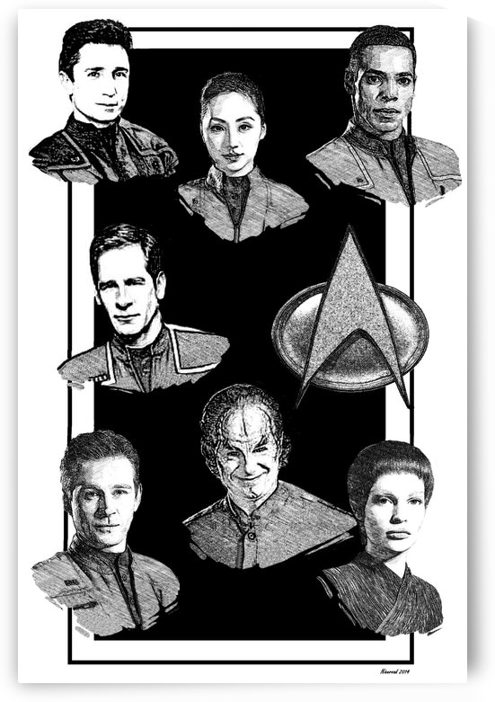 star trek enterprise pen and ink by Niceroad