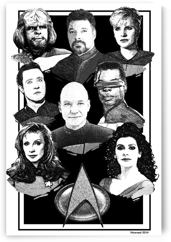 star trek next generation art pen and ink by Niceroad