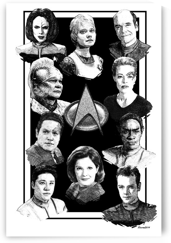 star trek voyager pen and ink art by Niceroad