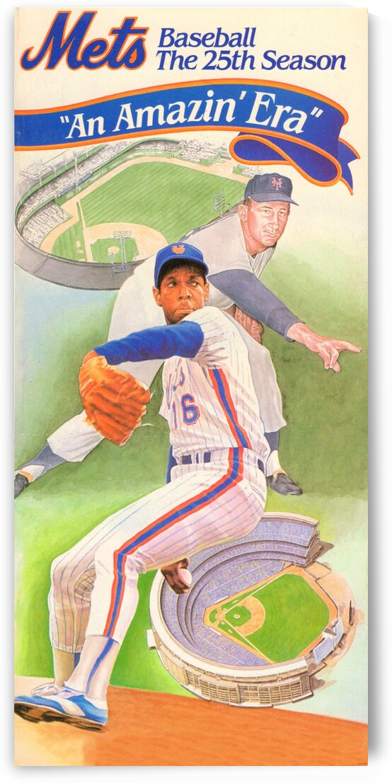 1986 Mets Dwight Gooden Art  by Row One Brand