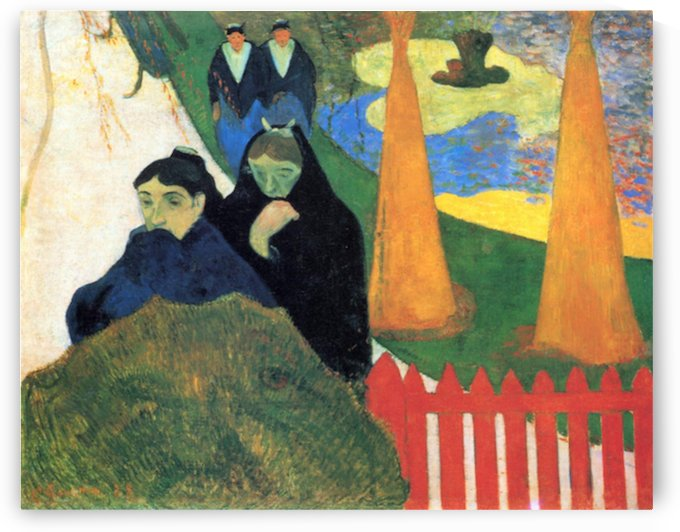 Old Maids in a Winter Garden - Arles by Gauguin by Gauguin