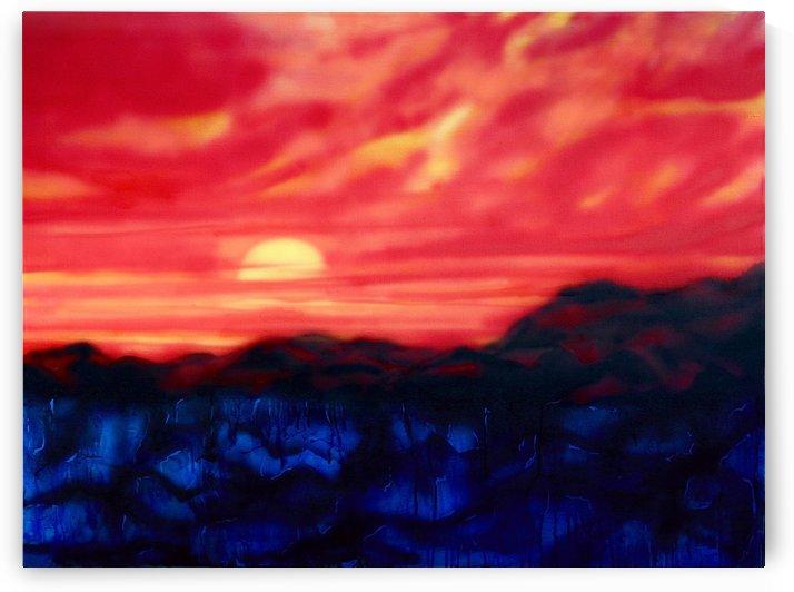 Fire Sunset by Regan J Smith