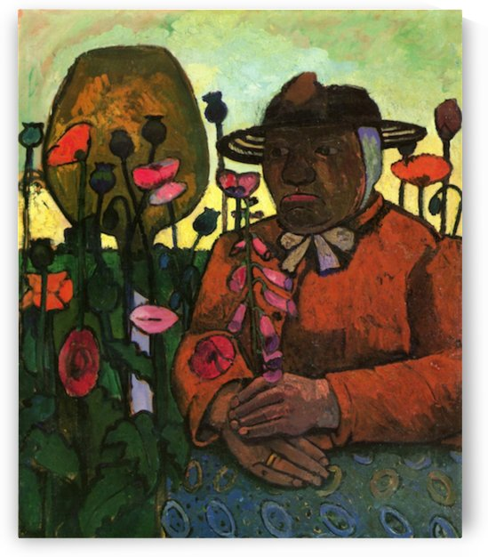 Old Woman in  the garden by Paula Modersohn-Becker by Paula Modersohn-Becker