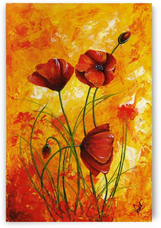 Red Poppies 006 by Edit Voros