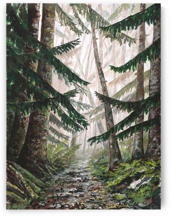 Misty path by Peter Van Giesen