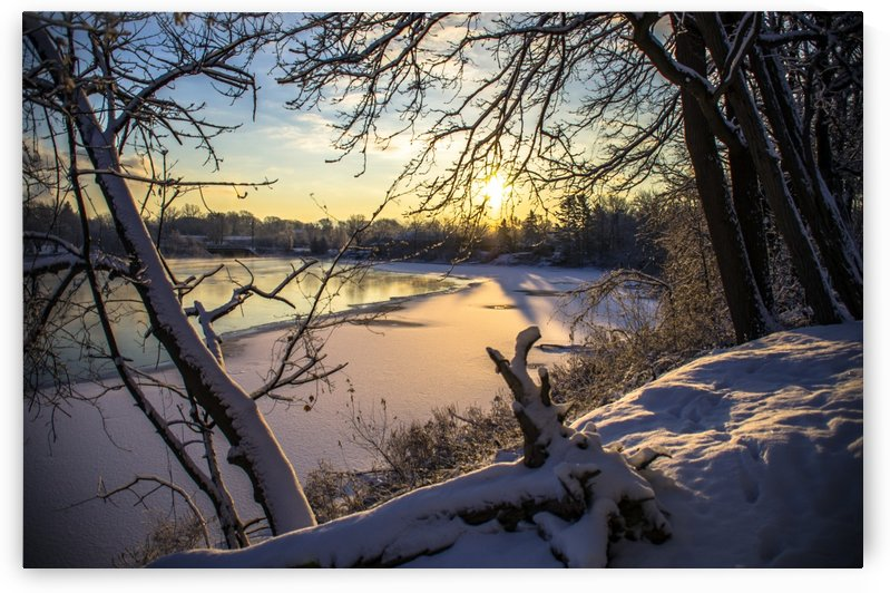 Silver Lake Winter Morning by Tim Warris Photography