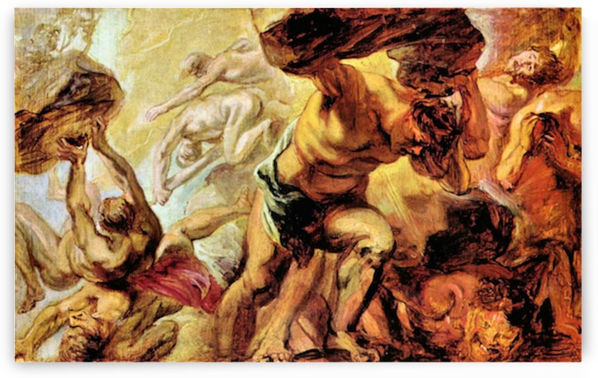 Overthrow of the Titans by Rubens by Rubens