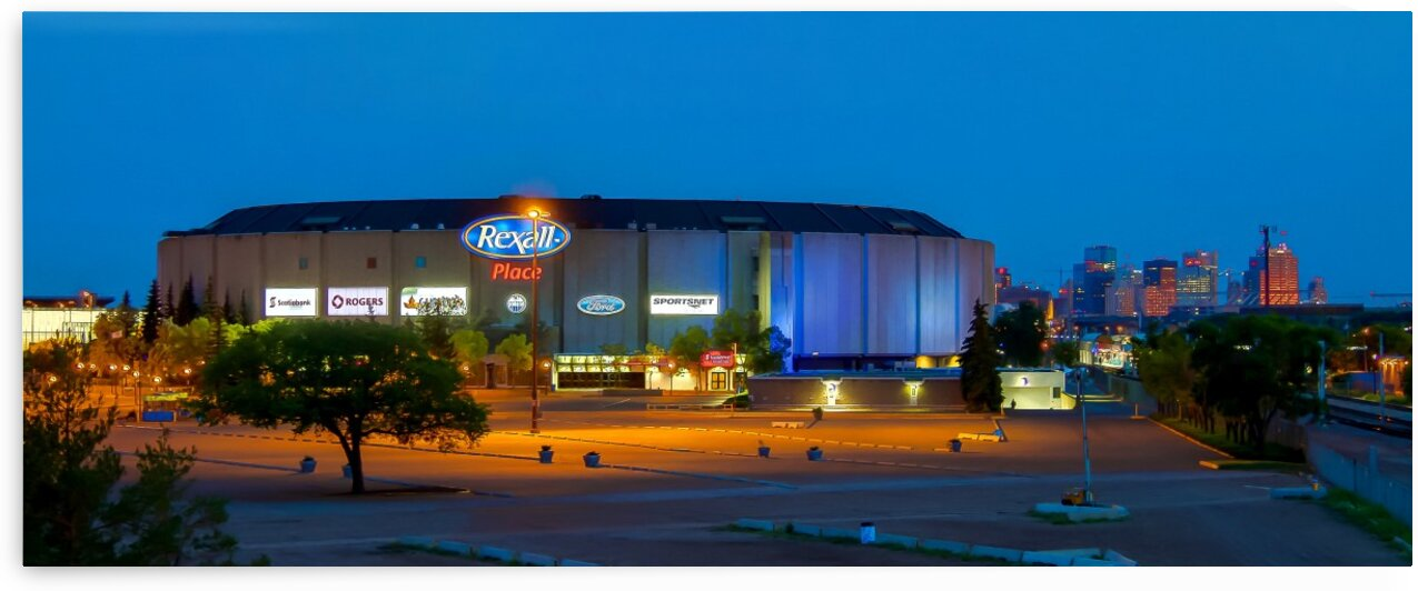 Northlands Coliseum Legendary View at Night 2015 by Jonathan Kozub