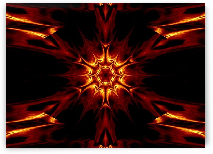 Eternal Flame Flowers 9 by Sherrie Larch