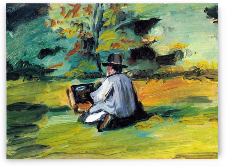 Painter at Work by Cezanne by Cezanne