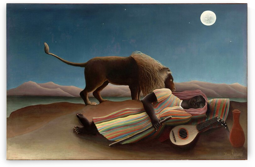 Henri Rousseau: The Sleeping Gypsy HD 300ppi by Stock Photography
