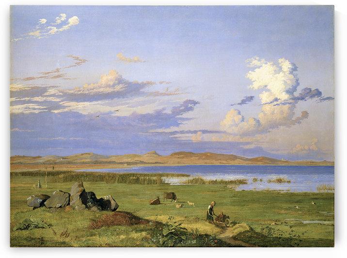 Landskab ved Arreso by Johan Thomas Lundbye