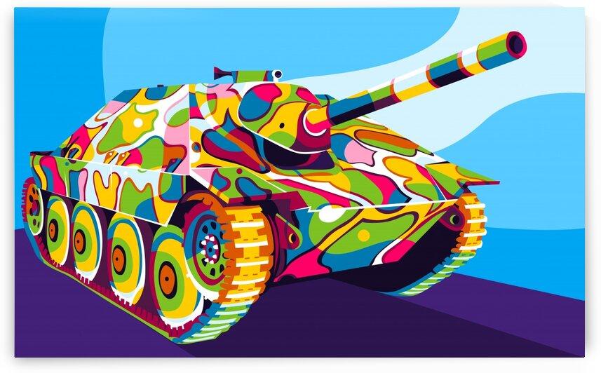Panzer 38 t Hetzer Pop Art by wpaprint
