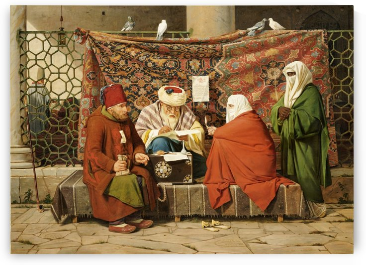 A Turkish notary drawing up a marriage contract by Martinus Christian Wesseltoft Rorbye