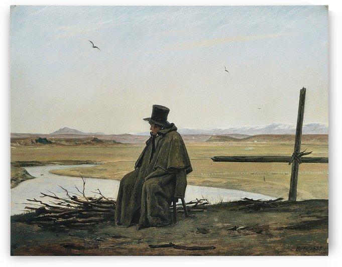 Un voyageur by Martinus Christian Wesseltoft Rorbye