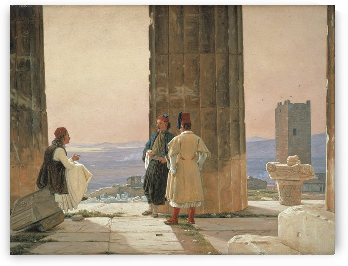 Udsigt fra Parthenon pa Akropolis by Martinus Christian Wesseltoft Rorbye