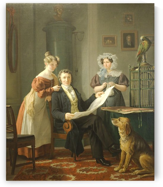 The Surgeon with Wife and Daughter by Martinus Christian Wesseltoft Rorbye