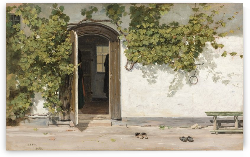 Entrance to an Inn in the Praestegarden at Hillested by Martinus Christian Wesseltoft Rorbye
