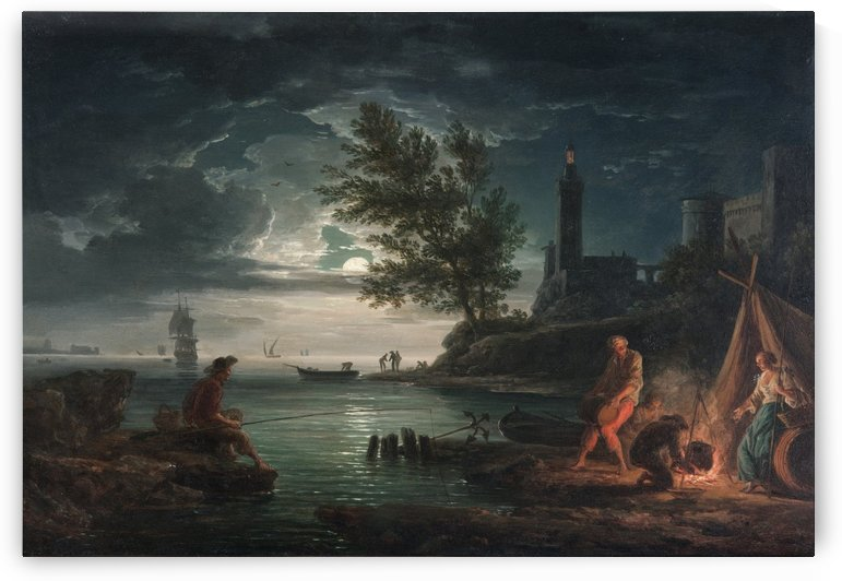 The four times of day - Night by Claude-Joseph Vernet