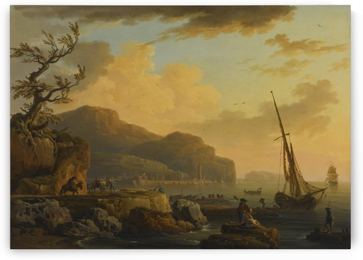 Morning in Castellemmare by Claude-Joseph Vernet