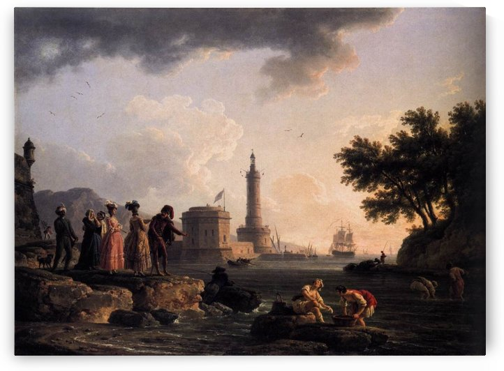 A seashore by Claude-Joseph Vernet