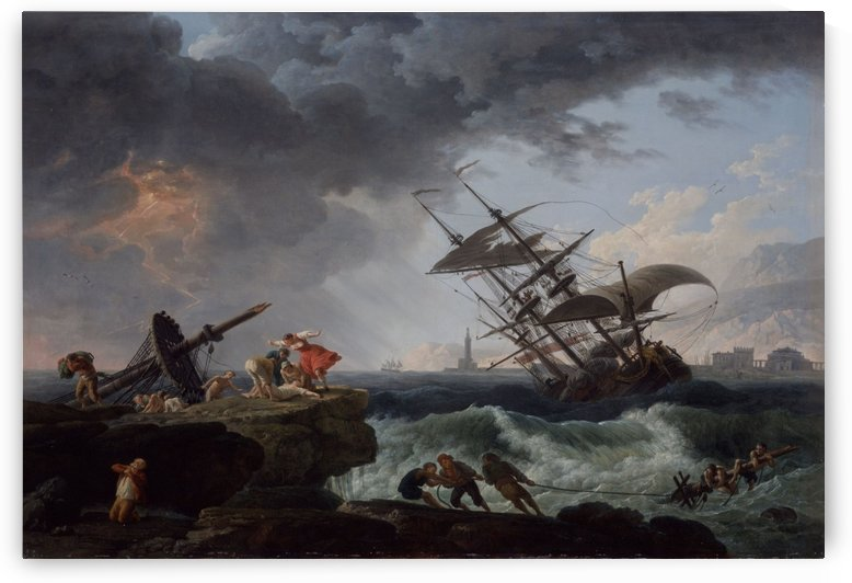 A Shipwreck on a Rocky Coast by Claude-Joseph Vernet