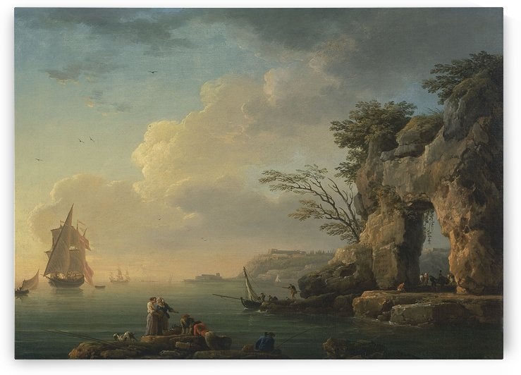 A calm sea by Claude-Joseph Vernet