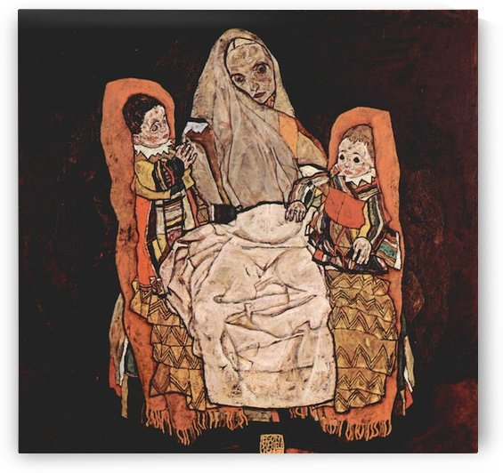 Parent with two children (the mother) by Schiele by Schiele