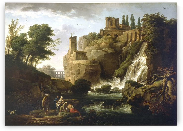 The Tivoli Cascades by Claude-Joseph Vernet